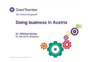 Doing business in Austria