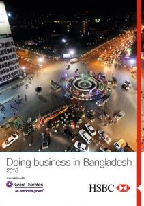 Doing business in Bangladesh. In association with: