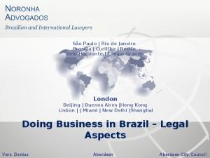 Doing Business in Brazil Legal Aspects