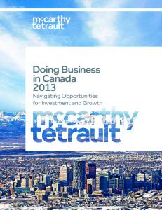 Doing Business in Canada Navigating Opportunities for Investment and Growth