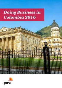 Doing Business in Colombia 2016