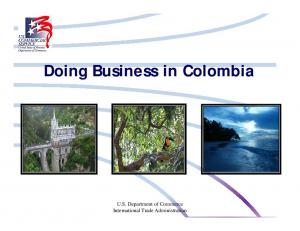 Doing Business in Colombia. U.S. Department of Commerce International Trade Administration