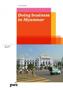 Doing business in Myanmar