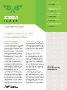 Doing Business in the GCC
