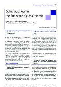 Doing business in the Turks and Caicos Islands