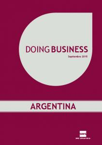 DOING BUSINESS Septiembre 2015