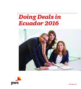Doing Deals in Ecuador 2016