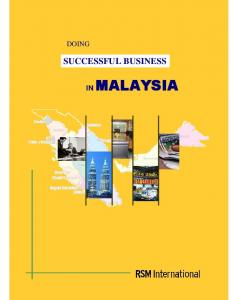 DOING SUCCESSFUL BUSINESS IN MALAYSIA DOING SUCCESSFUL BUSINESS MALAYSIA