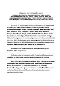 DOKUMENT DER BONNER KONFERENZ