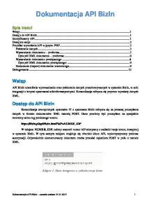 Dokumentacja API BizIn