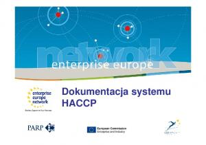 Dokumentacja systemu HACCP. European Commission Enterprise and Industry