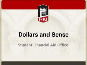 Dollars and Sense. Student Financial Aid Office