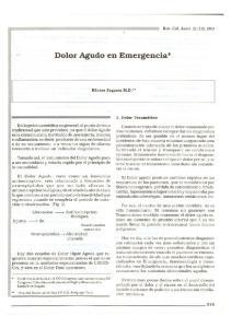 Dolor Agudo en Emergencia *