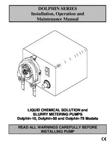 DOLPHIN SERIES Installation, Operation and Maintenance Manual