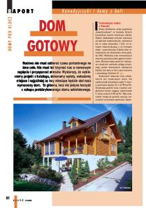 DOM GOTOWY R APORT. Kanadyjczyki i domy z bali DOMY POD KLUCZ