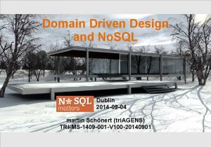 Domain Driven Design and NoSQL