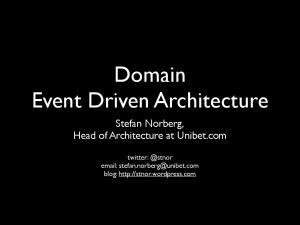 Domain Event Driven Architecture