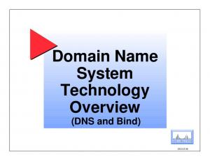 Domain Name System Technology Overview (DNS and Bind) DECUS 96