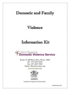 Domestic and Family. Violence. Information Kit