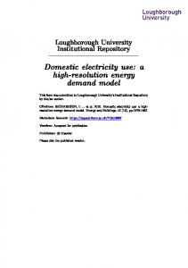 Domestic electricity use: a high-resolution energy demand model