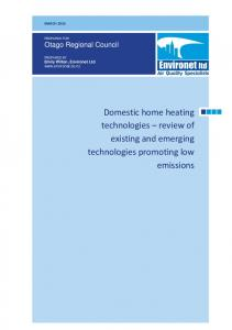 Domestic home heating technologies review of existing and emerging technologies promoting low emissions