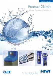 DOMESTIC TECHNOLOGY. Product Guide. Water Treatment Solutions