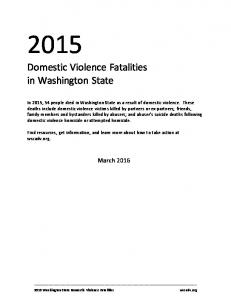 Domestic Violence Fatalities in Washington State