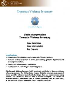 Domestic Violence Inventory