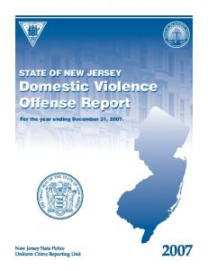 Domestic Violence Offense Report