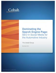 Dominating the Search Engine Page: SEO in Social Media for the Automotive Industry