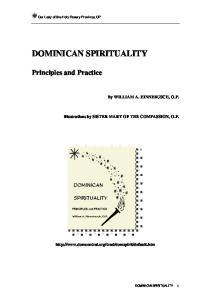 DOMINICAN SPIRITUALITY