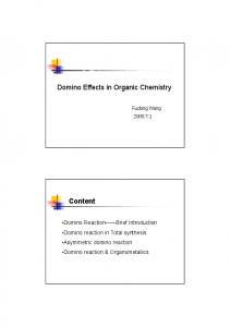 Domino Effects in Organic Chemistry