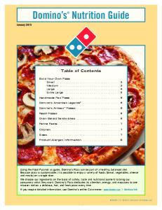 Domino s Nutrition Guide