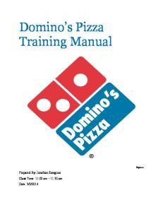 Domino s Pizza Training Manual