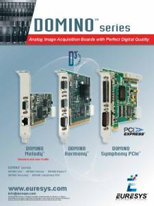 DOMINOTM. series.  DOMINO Melody TM. DOMINO Symphony PCIe TM. DOMINO Harmony TM