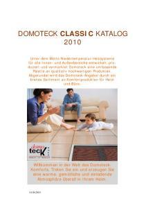 DOMOTECK CLASSIC KATALOG 2010