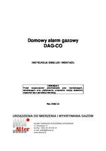 Domowy alarm gazowy DAG-CO
