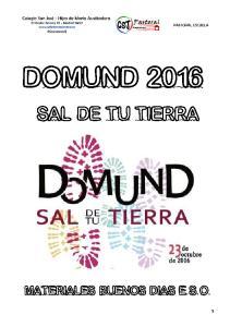 DOMUND 2016 SAL DE TU TIERRA MATERIALES BUENOS DIAS E.S.O