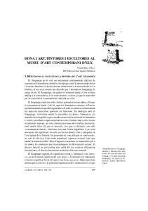 DONA I ART. PINTORES I ESCULTORES AL MUSEU D ART CONTEMPORANI D ELX
