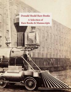 Donald Heald Rare Books. A Selection of Rare Books & Manuscripts