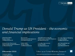 Donald Trump as US President the economic and financial implications