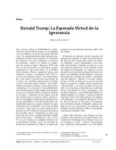Donald Trump: La Esperada Virtud de la Ignorancia