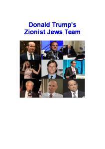 Donald Trump s Zionist Jews Team