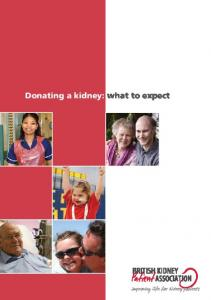 Donating a kidney: what to expect