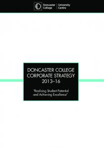 Doncaster College Corporate Strategy