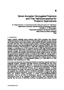 Donor-Acceptor Conjugated Polymers and Their Nanocomposites for Photonic Applications