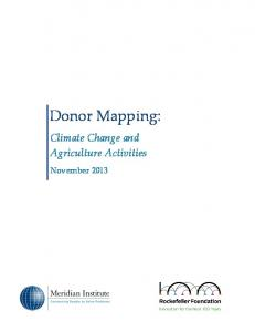 Donor Mapping: Climate Change and Agriculture Activities