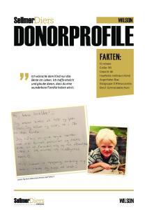 DONORPROFILE FAKTEN: WILSON WILSON