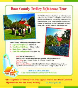 Door County Trolley Lighthouse Tour