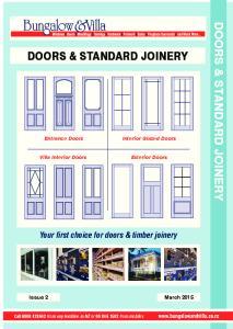 DOORS & STANDARD JOINERY